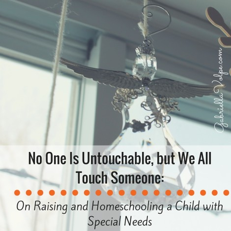 No One Is Untouchable, but We All Touch Someone- On Raising and Homeschooling a Child with Special Needs