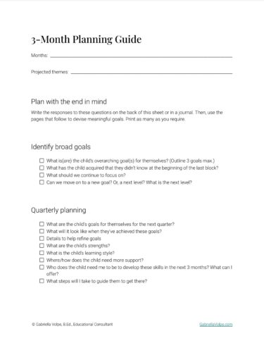 Thumbnail of PDF sample pages from 3-Month Planning Guide